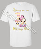 Minnie Mouse Dad Birthday Shirt