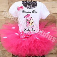 Minnie Mouse First Birthday Tutu Outfit
