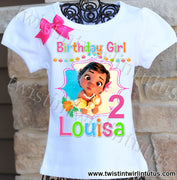 Baby Moana Birthday Shirt