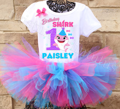 Baby Shark Birthday Tutu Outfit