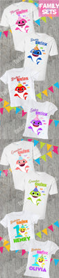 Baby Shark Family Birthday Shirts