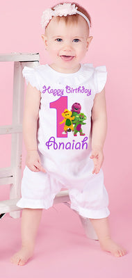 Barney Birthday Romper