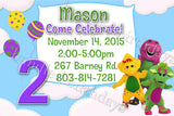 Barney Birthday Invitations