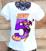 Bat Girl Birthday Shirt