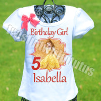 beauty and the beast birthday shirt
