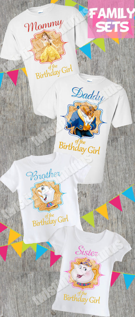 Beauty and the Beast Family Birthday Shirts