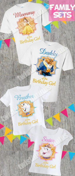 Beauty And The Beast Family Birthday Shirts Twistin
