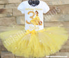 beauty and the beast birthday tutu outfit