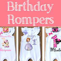 Birthday Rompers
