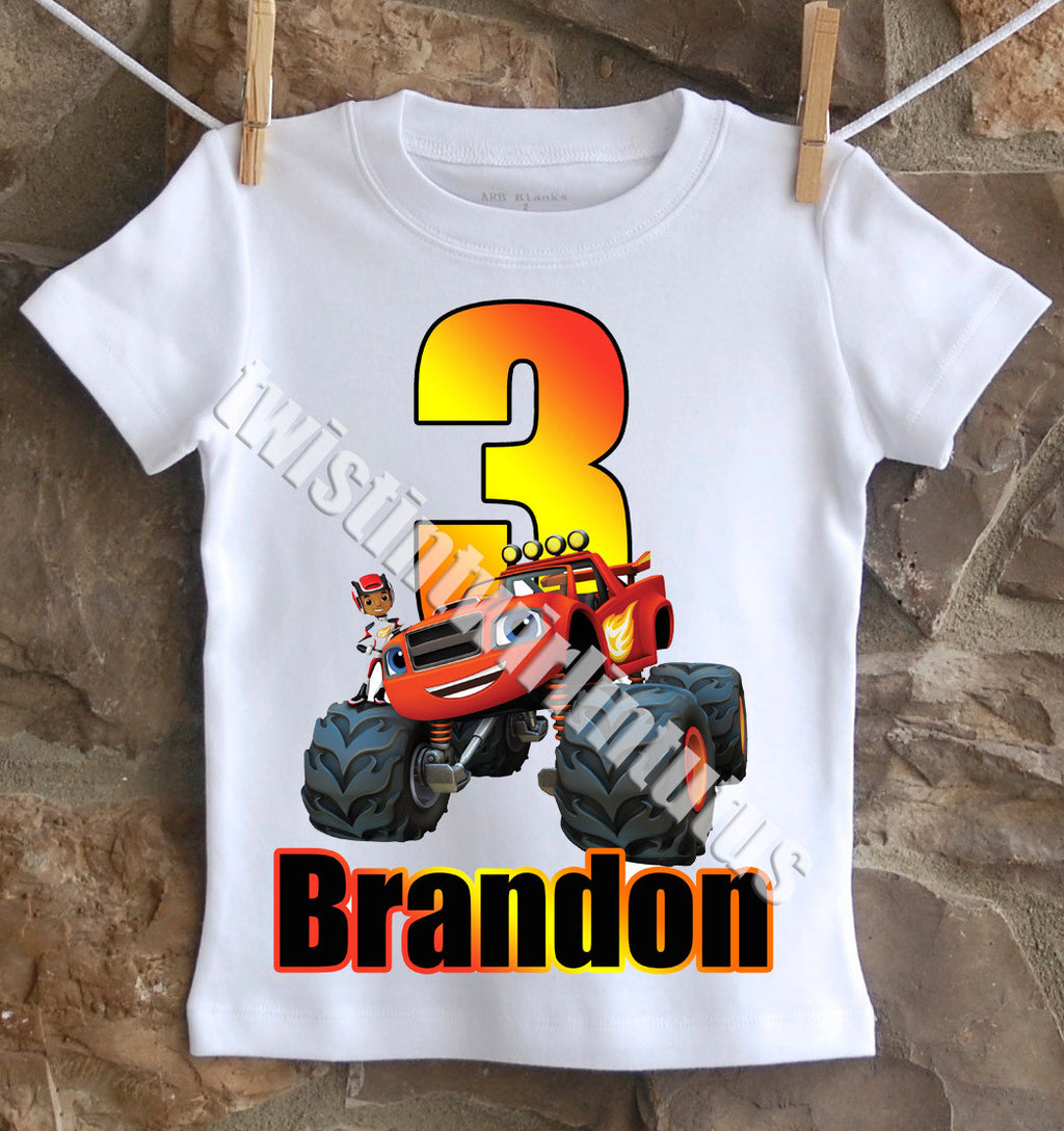 Blaze and the Monster Machine Birthday Shirt