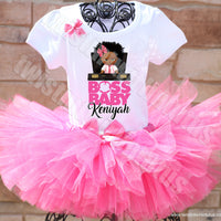 Boss Baby Birthday Tutu Outfit