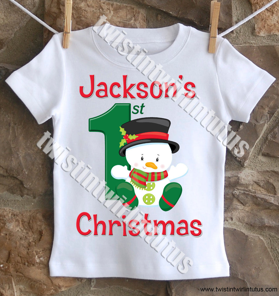 Boys First Christmas Shirt
