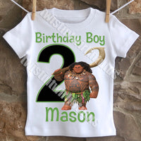 Boys Maui Birthday Shirt