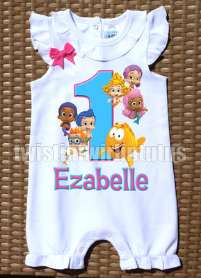 Bubble Guppies Birthday Romper