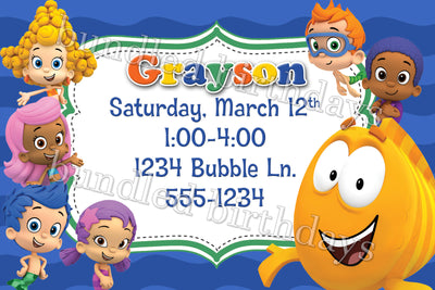 Boys Bubble Guppies Birthday Invitations