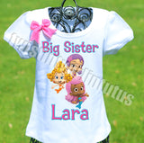 Bubble Guppies Big Sister Birthday Shirt