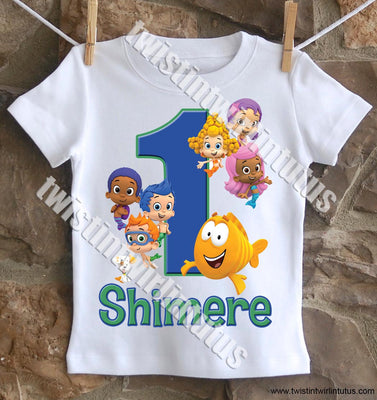 Boys Bubble Guppies Birthday Shirt