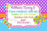 Candy Shop Birthday Invitations