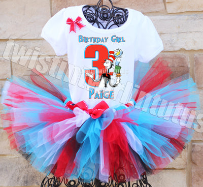 Cat in the Hat Birthday Tutu Outfit