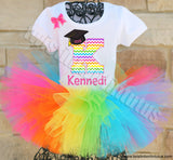 Rainbow Kindergarten Graduation Outfit