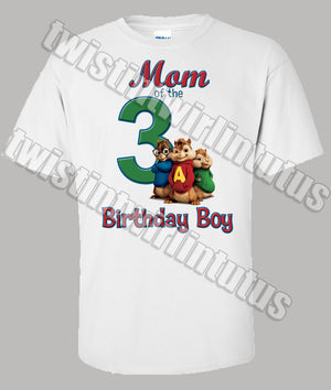 Adult Chipmunks Mom Birthday Shirt