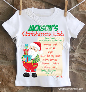 Christmas List Shirt