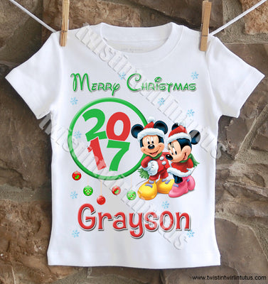 Mickey and Minnie Christmas Shirt