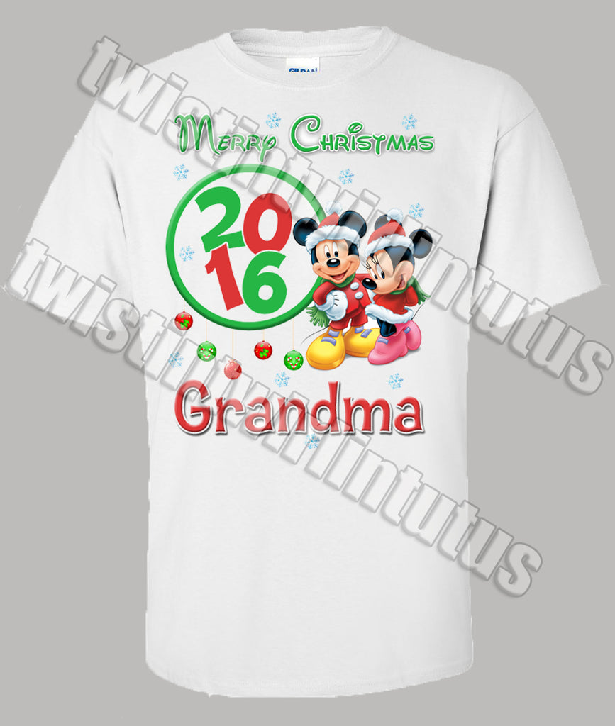 76254ce6 mickey ears santa hat christmas shirt personalized. disney classic ...