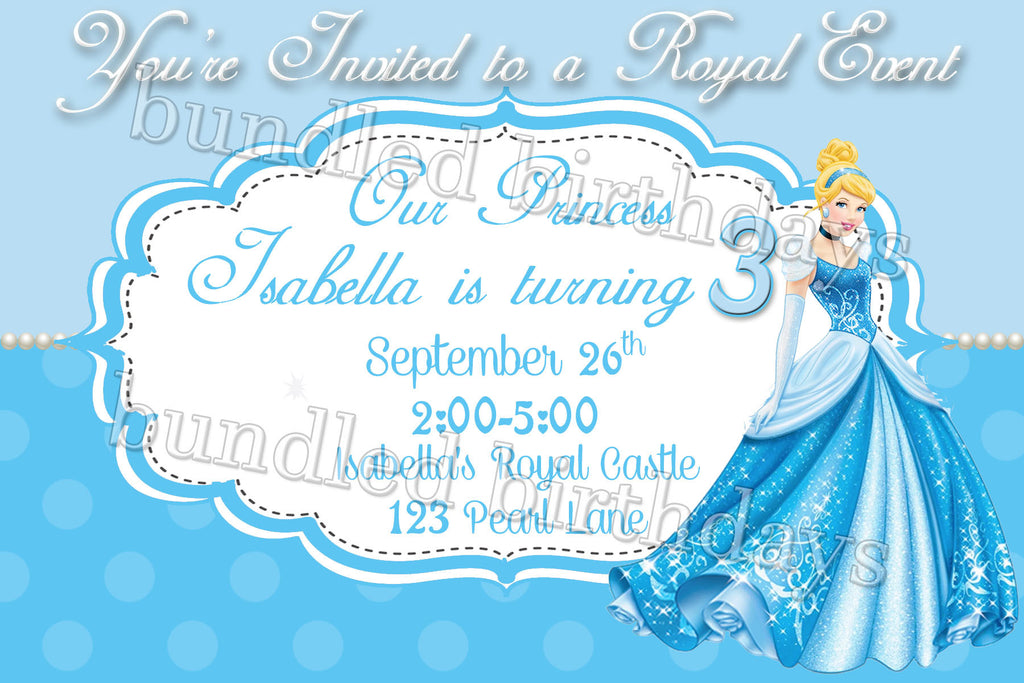 cinderella birthday invitation digital download twistin twirlin tutus