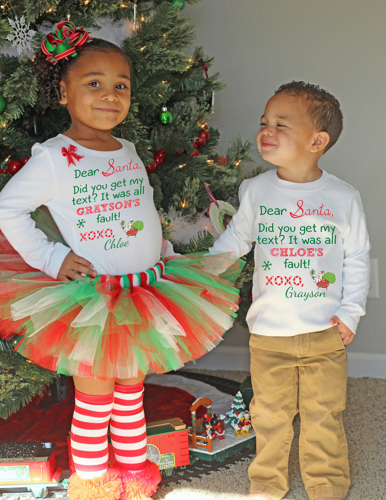 Christmas Outfits.Christmas Tutu Outfit Letter To Santa
