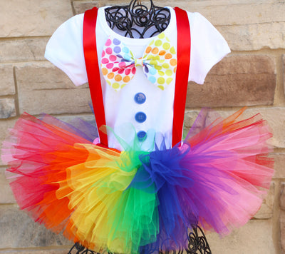 Clown halloween costume tutu outfit