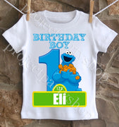 Cookie Monster Birthday Shirt