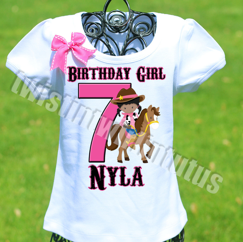 Cowgirl Birthday Shirt
