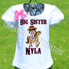 Cowgirl Big Sister Shirt
