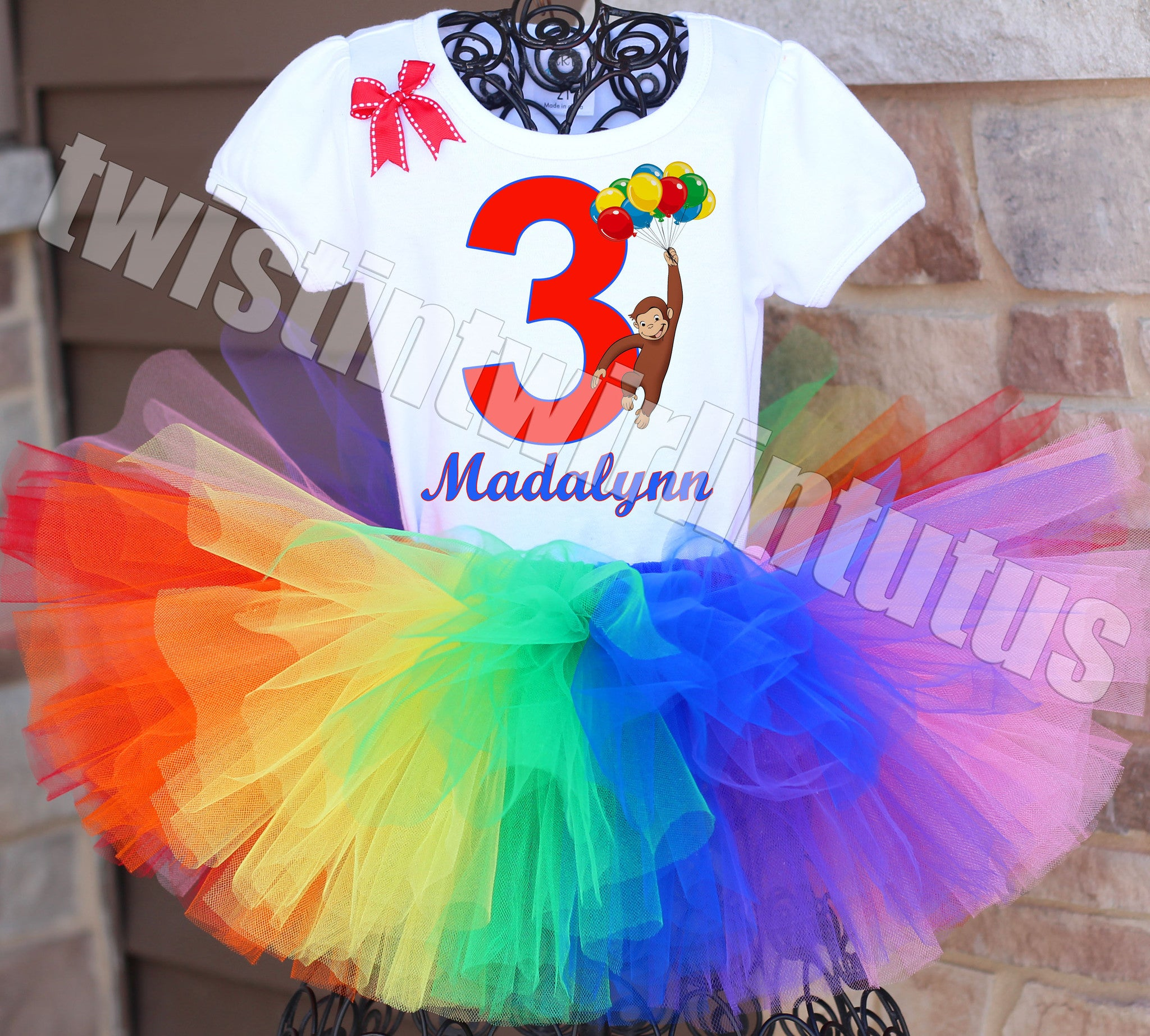 Curious George Birthday Tutu Outfit