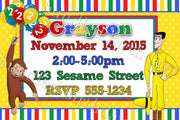 Curious George Birthday Invitation