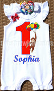 Curious George Birthday Romper