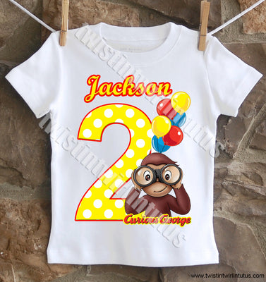 Curious George Birthday Shirt