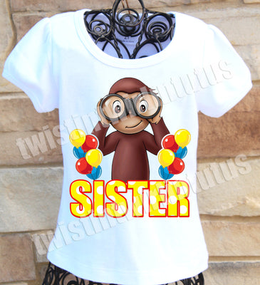 Curious George Sister Shirt