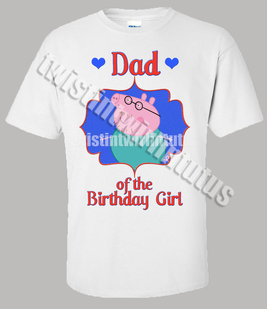 Adult Daddy Peppa Pig Birthday Shirt