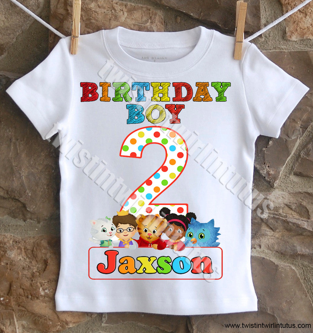 Boys Daniel Tiger Birthday Shirt