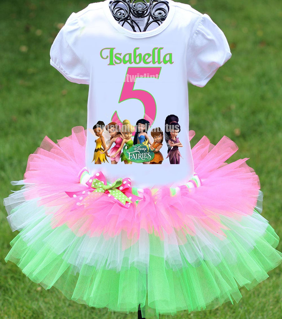 Disney Fairies Tinkerbell Birthday Outfit Tiered Tutu
