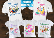 Disney Princess Family Birthday Shirts
