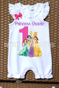 Disney Princesses Birthday Romper