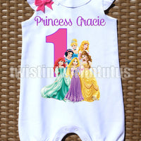 Disney Princess Birthday Romper