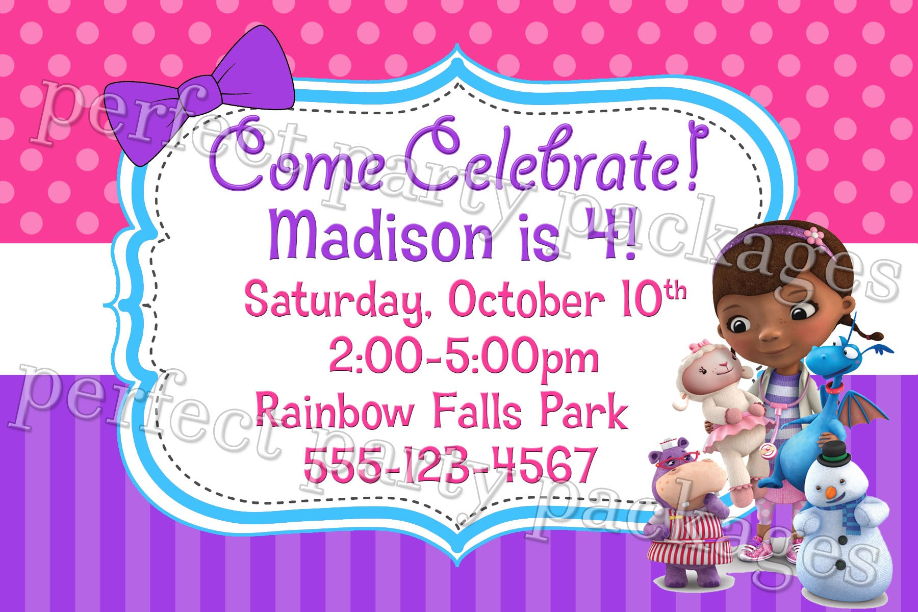 Doc mcstuffins birthday invitation digital download twistin doc mcstuffins birthday invitation filmwisefo