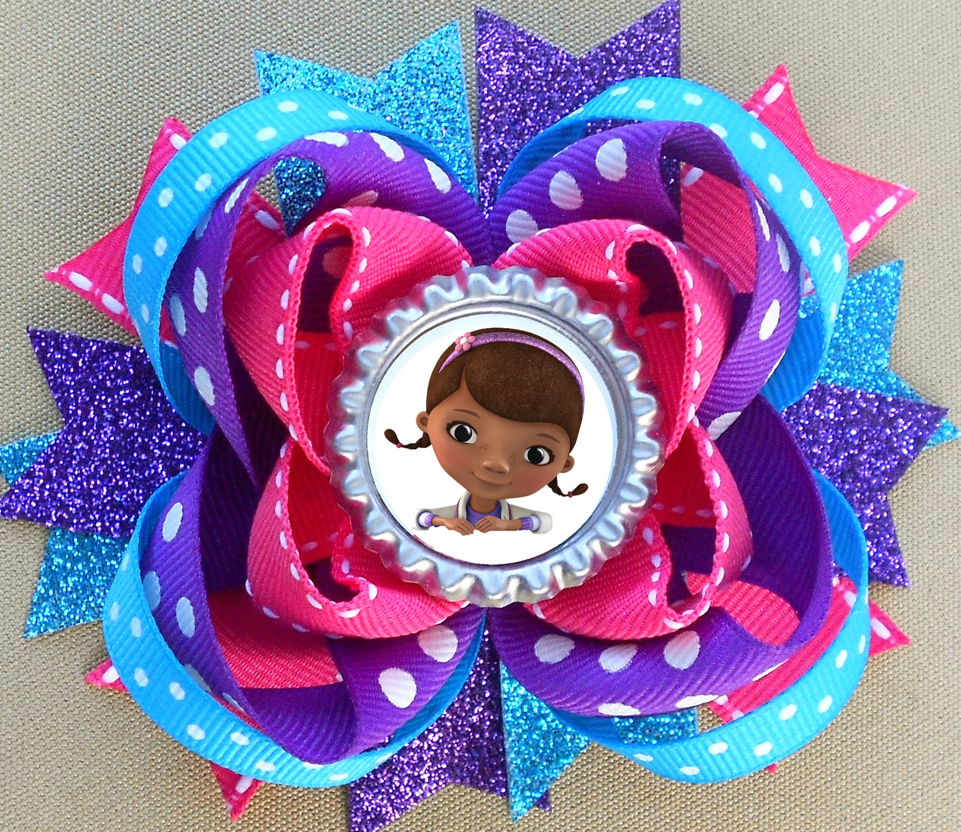 Stacked Boutique Hair Bow - Any character