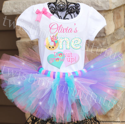 Donut First Birthday Tutu Outfit
