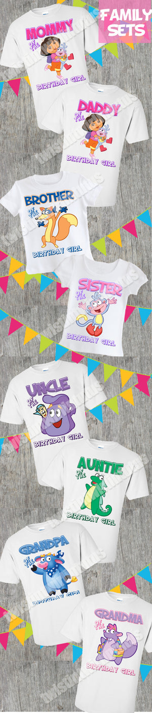Dora Family Birthday Shirts