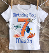 Boys Finding Dory Birthday Shirt